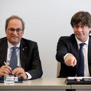 Quim Torra Carles Puigdemont Brussel·les EFE