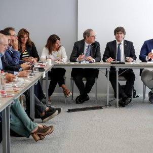 reunió JxCat Brussel·les Quim Torra Puigdemont EFE