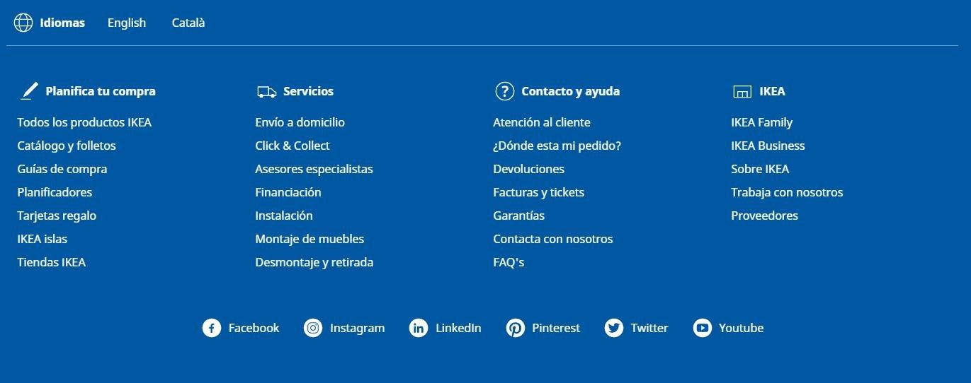 ikea idiomes catala i angles