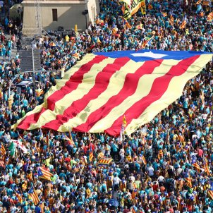 manifestacio diada 2019 plaça espanya estelada - Sergi Alcàzar