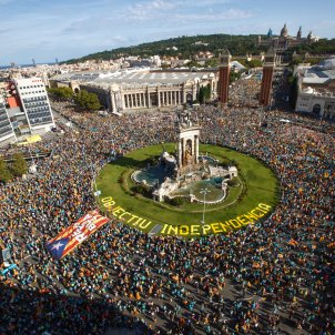manifestacio diada 2019 plaça espanya - Sergi Alcàzar