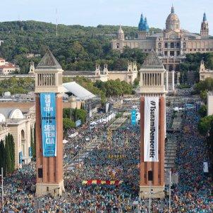 pancartes tsunami democratic diada 2019 plaça espanya - Sergi Alcàzar