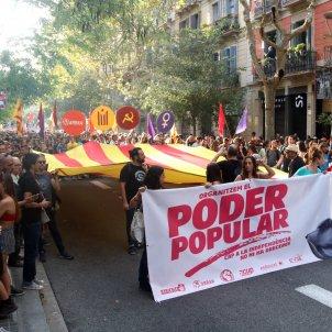 mani esquerra independentista diada 2019 - acn