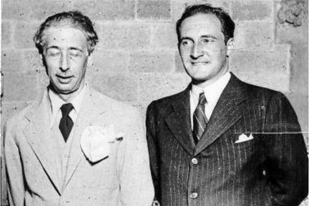 El presidente Companys y el lehendakari Aguirre. Fuente Sabin Arana Fundazioa