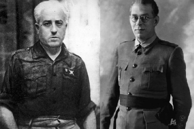 Los generales golpistas Mola y Yagüe. Fuente Wikimedia Commons (1)