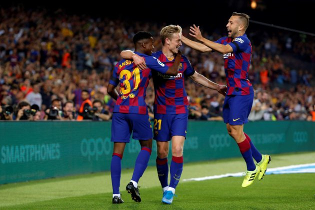 Ansu Fati De Jong Jordi Alba Barca Valencia EFE