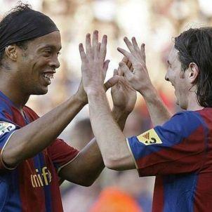 Ronaldinho Leo Messi EFE