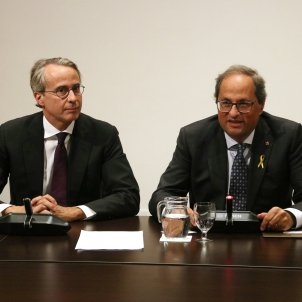 President Quim Torra JAivier Faus cercle economia - ACN