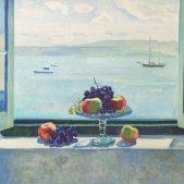 J. Serra Llimona, 'Fruita a la finestra'. Pintar Consell Insular de Menorca