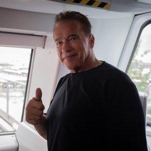 EuropaPress Arnold Schwarzenegger Metro de Barcelona