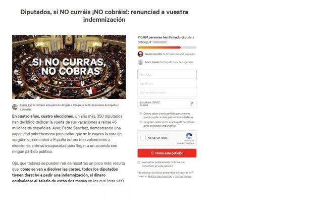 Petición de firmas Cance.org