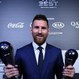 Leo Messi dos premis The Best @FIFA