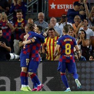 Griezmann Arthur Messi Barca Villarreal EFE