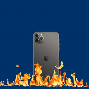 iPhone ardiendo