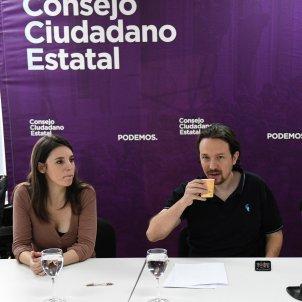 Pablo Iglesias, Irene Montero, Echenique, Noelia vera Podemos EFE