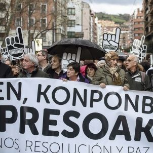 manifestacio presos eta proces pau bilbao efe