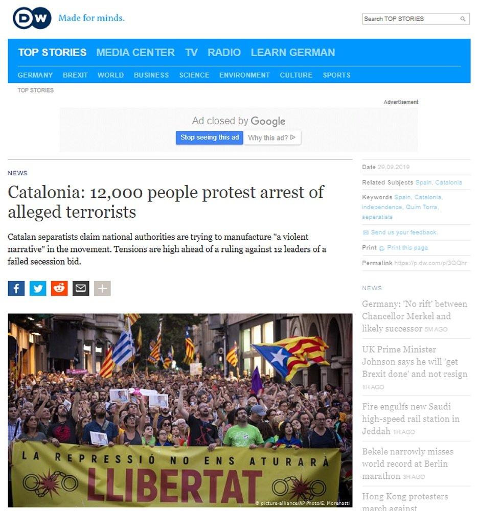 DW manifestación Sabadell