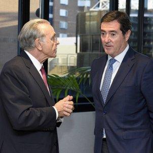 Foto 3 Fainé y Garamendi comentan los detalles del acuerdo
