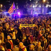 ELNACIONAL manifestacio aniversari 1-O delegacio govern espanyol - Sergi Alcàzar