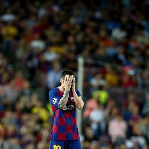 Messi trist Barca Inter EFE