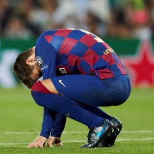 Pique trist Barca Inter EFE