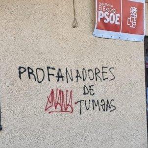 PSOE Escorial pintades   EP