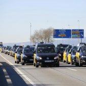 Concentració taxis Sergi Alcàzar