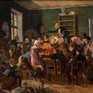 Escena d'una subhasta (Wilhelm Marstrand, 1835)