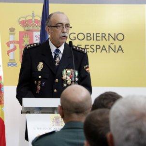 El cap de la Policia Nacional a Girona, Luis César Suanzes, durant la intervenció a la festa patronal, el 10 d'octubre del 2019  ACN