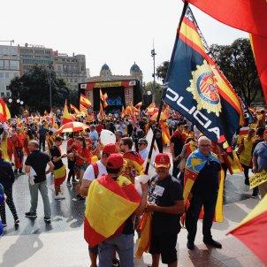Manifestació espanyolista 12-O plaça Catalunya Sergi Alcàzar