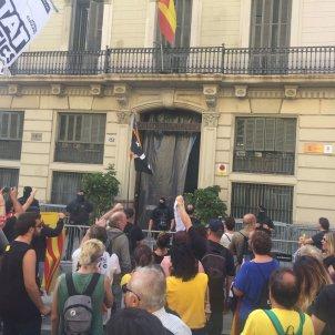 manifestacio prefectura policia via laietana picnic republica Sergi Maraña