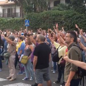 manifestació Sitges Guàrdia Civil @radiomaricel