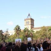 manifestació d'estudiants universitats plaça universitat Toni Piqué (3)