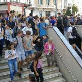 Tsunami manifestants metro cap a l'Aeroport sentència 14 O Anna Solé Sans