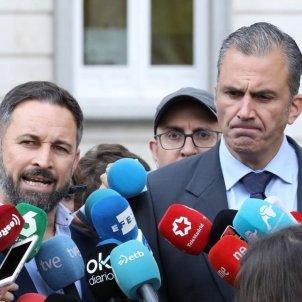 EuropaPress 2424829 Santiago Abascal y Javier Ortega Smith presidente y secretario general de Vox valorando la sentencia del procés europa press