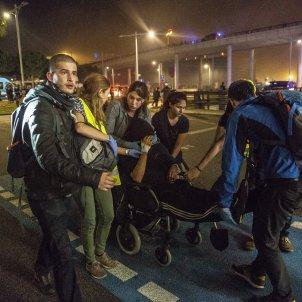 ferit bala de goma Manifestacio sentencia aeroport del prat Sergi Alcàzar 02