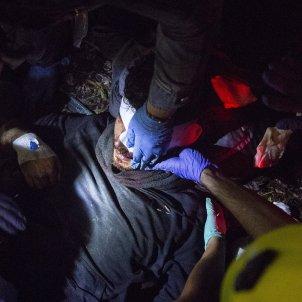 ferit ull bala de goma Manifestacio sentencia aeroport del prat - Sergi Alcàzar