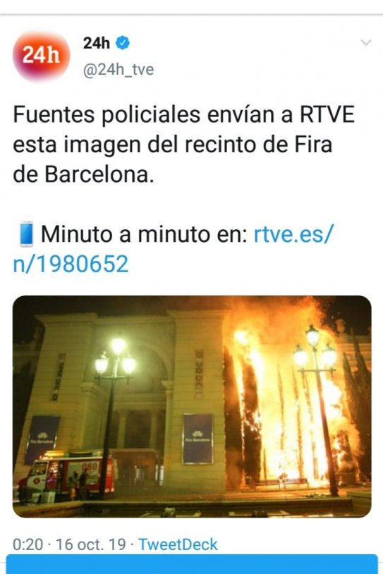 Canal 24h TVE bulo imágenes