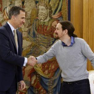 Rei-Felipe VI-Pablo Iglesias-Unidos Podemos-efe