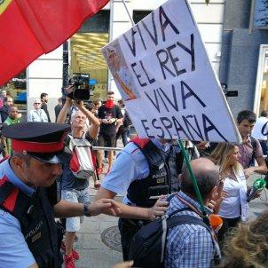 Manifestació estudiants bandera espanyola   Anna Solé