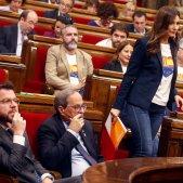 Lorena Roldán uniforme Cs Quim Torra Parlament EFE