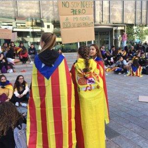 Estudiants Girona bandera espanyola Catalunya Informació