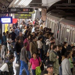 vaga general 19O serveis mínims metro Plaça Espanya - Efe