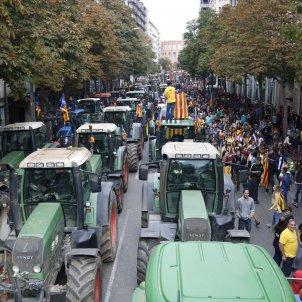 vaga general 18O tractors manifestació Girona ACN