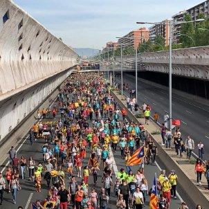 El NACIONAL Marxa llibertat Gran Via   Sergi Alcàzar