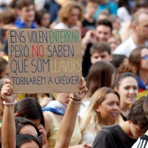 vaga general manifestació estudiants Barcelona EFE