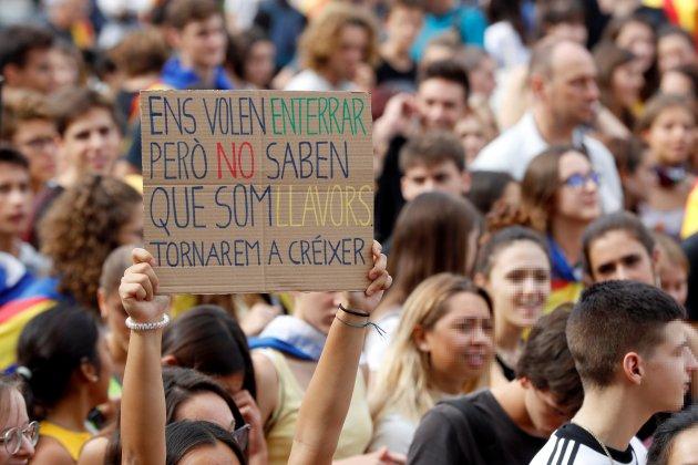 huelga general manifestación estudiantes Barcelona EFE