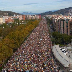 Marxa per la Llibertat entrada Barcelona - EFE