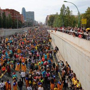 Gran Via Entrada Marxes per la Llibertat Vaga 18-O - Sergi Alcàzar