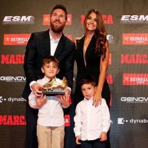 Leo Messi amb la seva família, dona i fills Thiago Mateo Antonella @antonelaroccuzzo